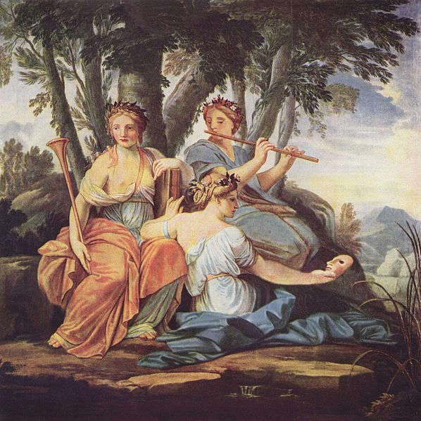 The Muses Clio, Euterpe, and Thalia, by Eustache Le Sueur (Credit: Wikimedia)